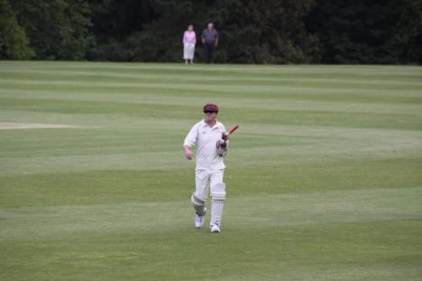 18 - David bowled by Ian Hislop for 20 runs.JPG