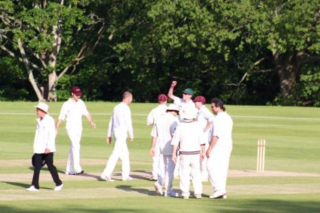 9.5 Billy May celebrates taking a wicket.JPG