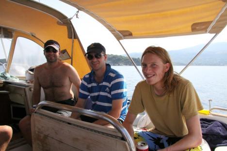 Cruising around Corfu after the matches.JPG