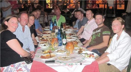 Dining in Corfu town.JPG